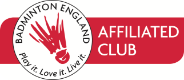 Keynsham Badminton Club is affiliated to Badminton England