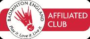 Keynsham Badminton Club is affiliated to Badminton England
